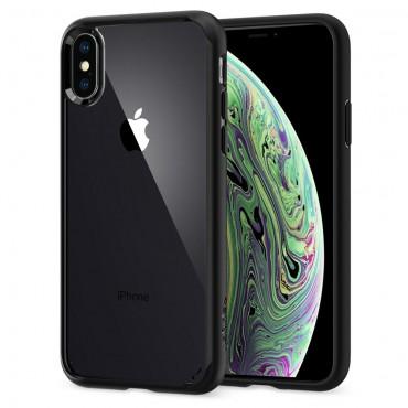 """Obal Spigen """"Ultra Hybrid"""" pro iPhone X / XS - matně černý"""