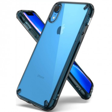 "Kryt Ringke ""Fusion"" pro iPhone XR - smoke black"