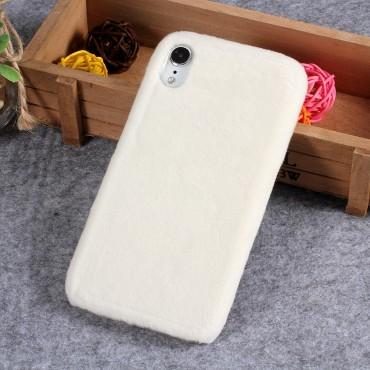 "Módní kryt ""Furry"" pro iPhone XR - bílý"