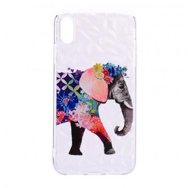 "Tenký TPU gelový obal ""Elephant"" pro iPhone XR"
