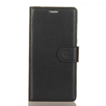 """Elegantní kryt """"Litchi"""" pro iPhone XR - černý"""