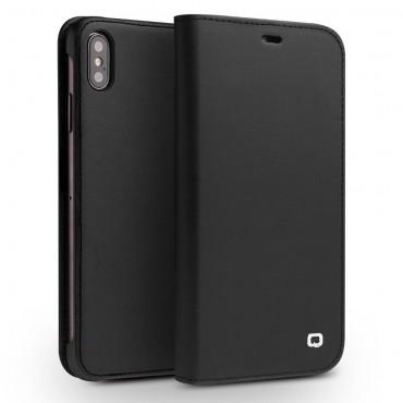 """Prémiový kožený obal Qialino """"Leather"""" pro iPhone XS Max - černý"""