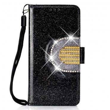 """Módní kryt """"Glitter"""" pro iPhone XS Max - černý"""