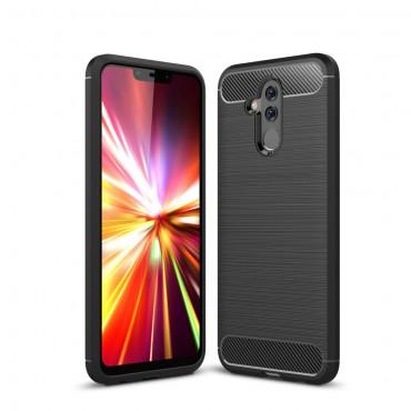"Kryt TPU gel ""Brushed Carbon"" pro Huawei Mate 20 Lite - černý"