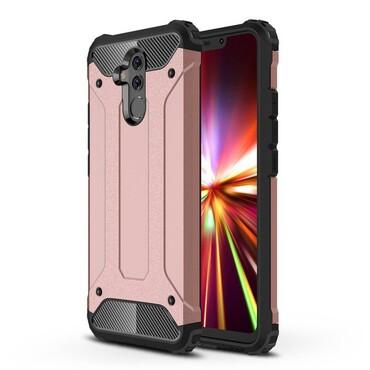 """Robustní obal """"Rock"""" pro Huawei Mate 20 Lite - růžový"""