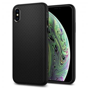 """Obal Spigen """"Liquid Air"""" pro iPhone X / XS - matně černý"""