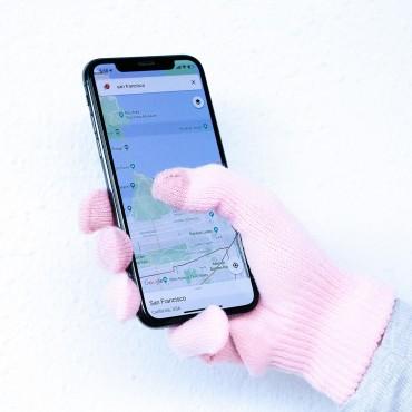 Dotykové rukavice iGlove - růžové