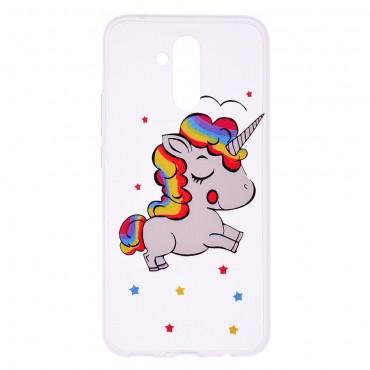 "Tenký TPU gelový obal ""Unicorn"" pro Huawei Mate 20 Lite"