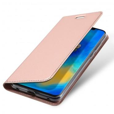 """Módní pouzdro """"Skin"""" pro Huawei Mate 20 Pro z umělé kůže - růžové"""