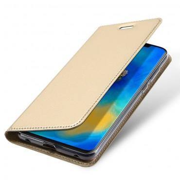 """Módní kryt z umělé kůže """"Skin"""" pro Huawei Mate 20 Pro - zlaté barvy"""