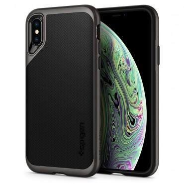 """Obal Spigen """"Neo Hybrid"""" pro iPhone X / XS - kovově černý"""