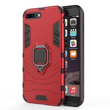 "Robustní obal ""Impact X Ring"" pro iPhone 8 Plus / iPhone 7 Plus - červený"