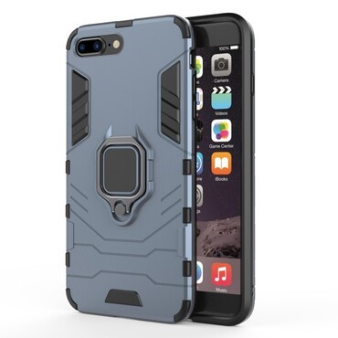 "Robustní kryt ""Impact X Ring"" pro iPhone 8 Plus / iPhone 7 Plus - stříbrné barvy"
