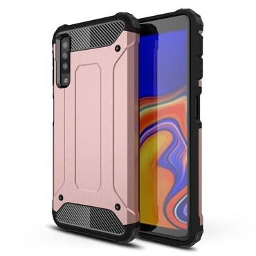 """Robustní obal """"Rock"""" pro Samsung Galaxy A7 2018 - růžový"""