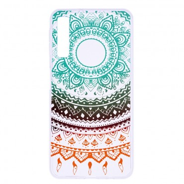 "Tenký kryt TPU gel ""Colorful Mandala"" pro Samsung Galaxy A7 2018"