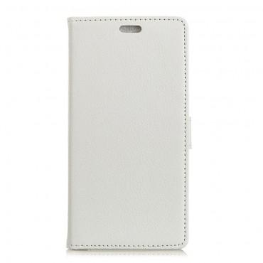 """Elegantní kryt """"Litchi"""" pro Samsung Galaxy A7 2018 - bílý"""