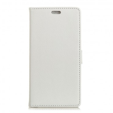 """Elegantní pouzdro """"Litchi"""" pro Samsung Galaxy A7 2018 - bílé"""