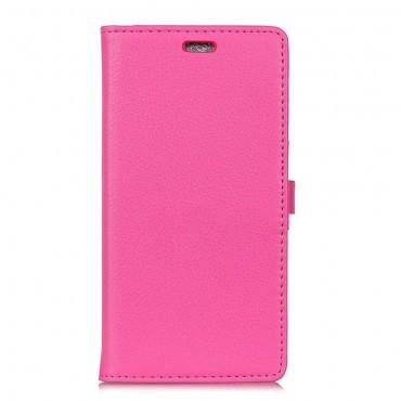 """Elegantní kryt """"Litchi"""" pro Samsung Galaxy A7 2018 - růžový"""