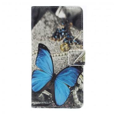 """Módní pouzdro """"Blue Buttefly"""" pro Samsung Galaxy A7 2018"""