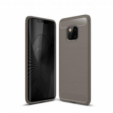 "TPU gelový obal ""Brushed Carbon"" pro Huawei Mate 20 Pro - šedý"
