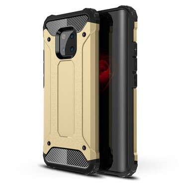 """Robustní obal """"Rock"""" pro Huawei Mate 20 Pro - zlaté barvy"""