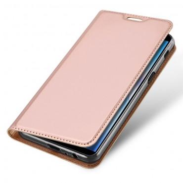 """Módní kryt z umělé kůže """"Skin"""" pro Samsung Galaxy J6 Plus - růžový"""