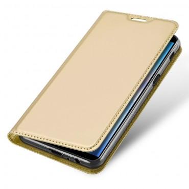 """Módní kryt z umělé kůže """"Skin"""" pro Samsung Galaxy J6 Plus - zlaté barvy"""