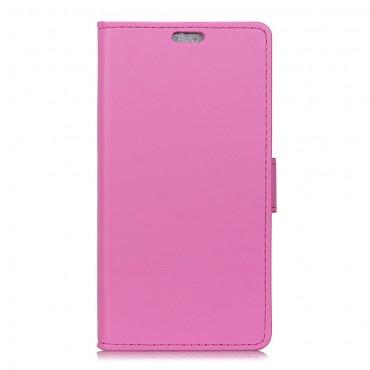"""Elegantní pouzdro """"Litchi"""" pro Samsung Galaxy J6 Plus - růžové"""