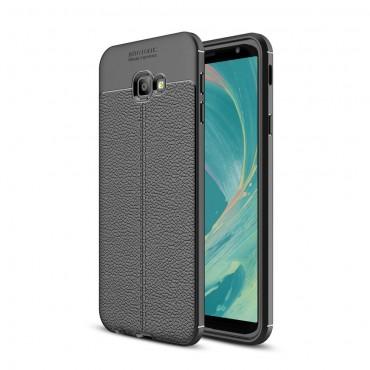 "TPU gelový obal ""Gritty"" pro Samsung Galaxy J4 Plus - černý"
