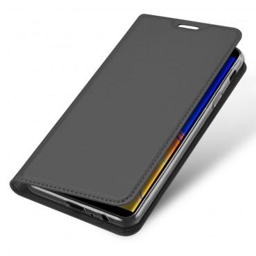 """Módní pouzdro """"Skin"""" pro Samsung Galaxy J4 Plus z umělé kůže - černé"""