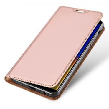 """Módní kryt z umělé kůže """"Skin"""" pro Samsung Galaxy J4 Plus - růžový"""