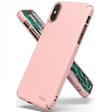 """Obal Ringke """"Slim"""" pro iPhone X / XS - broskvově růžový"""
