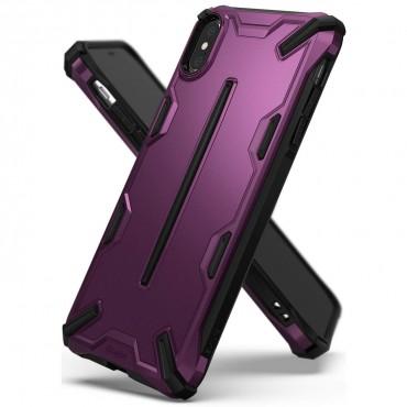 """Obal Ringke """"Dual X"""" pro iPhone X / XS - kovově fialový"""