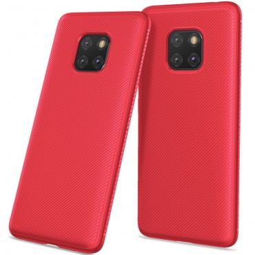 "Kryt TPU gel ""Textured"" pro Huawei Mate 20 Pro - červené"