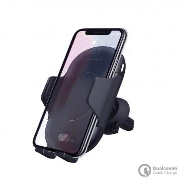RoboSonic: Automatický chytrý držák do auta s rychlým QI nabíjením - držák do otvoru větrání