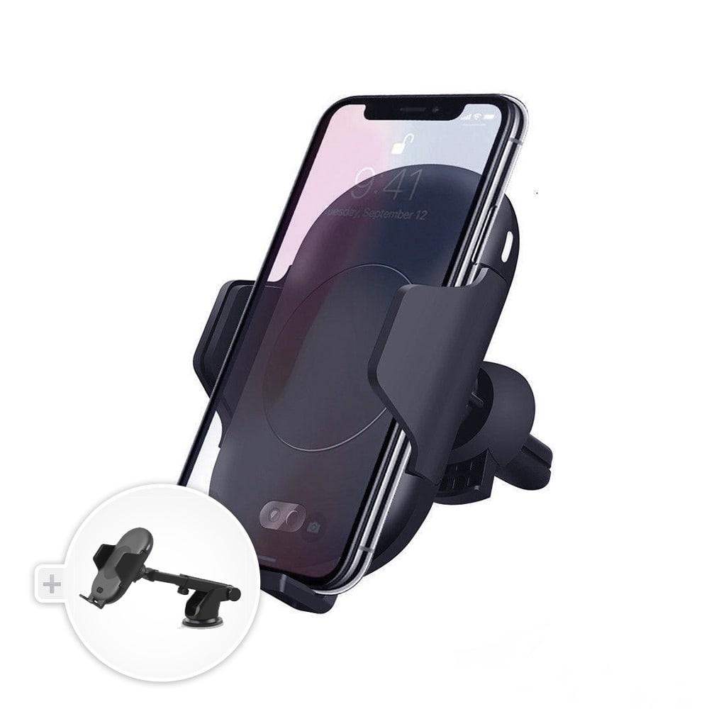 RoboSonic: Automatický chytrý držák do auta s rychlým QI nabíjením - držák na palubní desku/čelní sklo