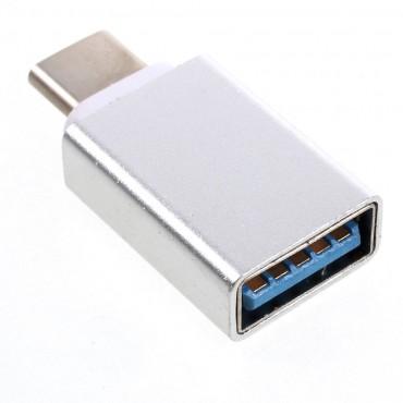 USB-C na USB 3.0 adaptér -stříbrné barvy