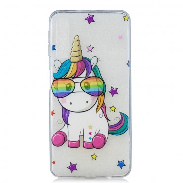 "Tenký kryt TPU gel ""Unicool"" pro Samsung Galaxy A7 2018 - růžové"