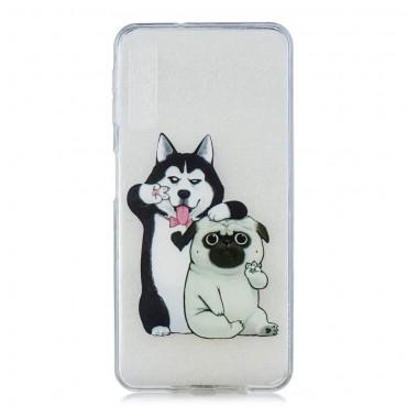 "Tenký TPU gelový obal ""Dog Bros"" pro Samsung Galaxy A7 2018"