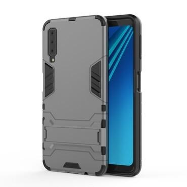 """Robustní kryt """"Impact X"""" pro Samsung Galaxy A7 2018 - šedý"""