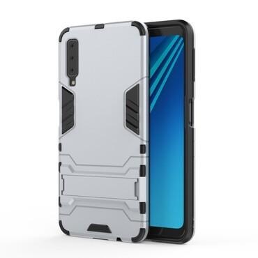 """Robustní obal """"Impact X"""" pro Samsung Galaxy A7 2018 - stříbrný"""