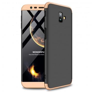 """Elegantní celotělový obal """"Sleek"""" pro Samsung Galaxy J6 Plus - černo-zlatý"""