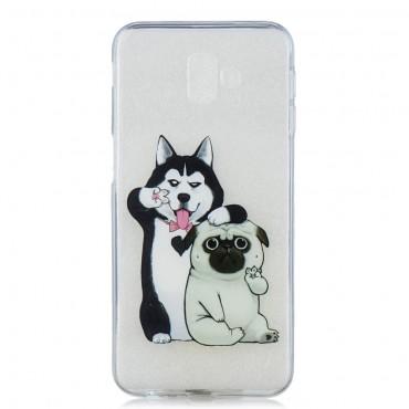 "Tenký TPU gelový obal ""Dog Bros"" pro Samsung Galaxy J6 Plus"
