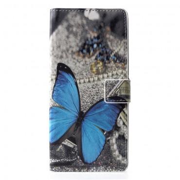 """Módní pouzdro """"Blue Buttefly"""" pro Samsung Galaxy J6 Plus"""