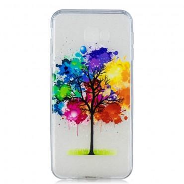"Tenký kryt TPU gel ""Rainbow Tree"" pro Samsung Galaxy J4 Plus - růžové"