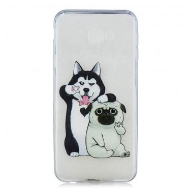 "Tenký TPU gelový obal ""Dog Bros"" pro Samsung Galaxy J4 Plus"