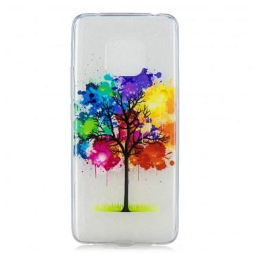 """Tenký kryt TPU gel """"Rainbow Tree"""" pro Huawei Mate 20 Pro - růžové"""