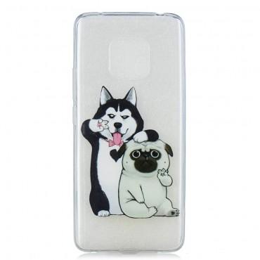 "Tenký kryt TPU gel ""Dog Bros"" pro Huawei Mate 20 Pro"