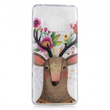"""Tenký TPU gelový obal """"Flower Elk"""" pro Huawei Mate 20 Pro"""