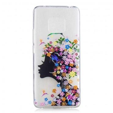 "Tenký TPU gelový obal ""Flower Girl"" pro Huawei Mate 20 Pro"